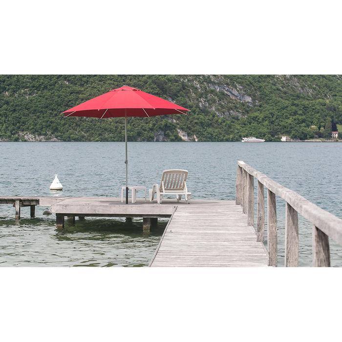 Parasol Sunpop rond 270 en bord de lac