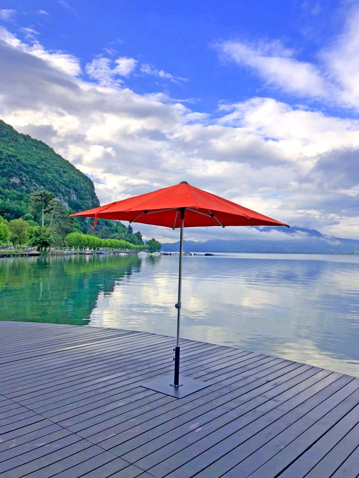 parasol sunpop en toile Acrylique couleur paprika