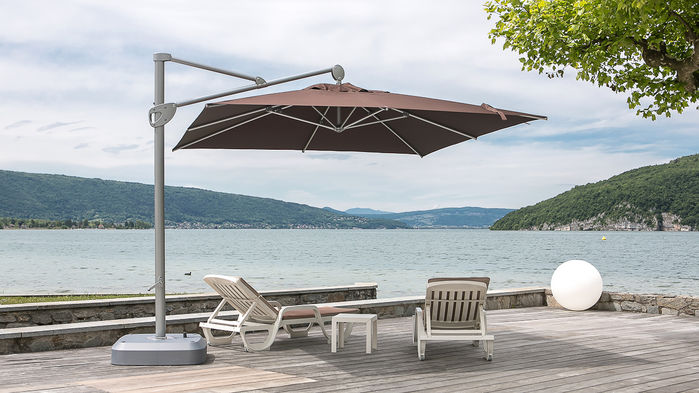 Un parasol orientable à 360°