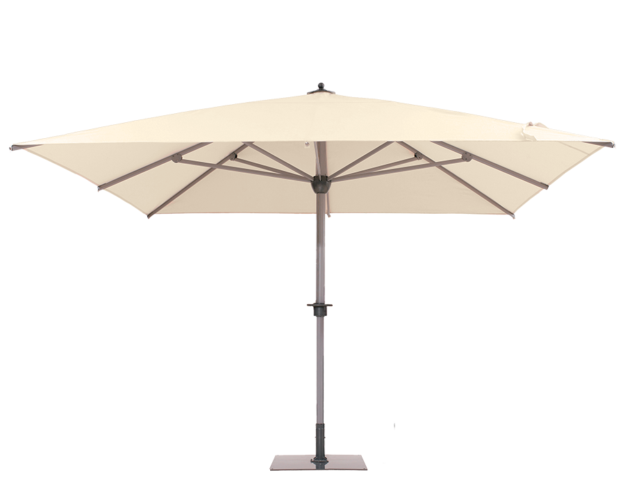 parasol sunwheel parasol g ant carr 300x300 polyester blanc la maison du parasol. Black Bedroom Furniture Sets. Home Design Ideas