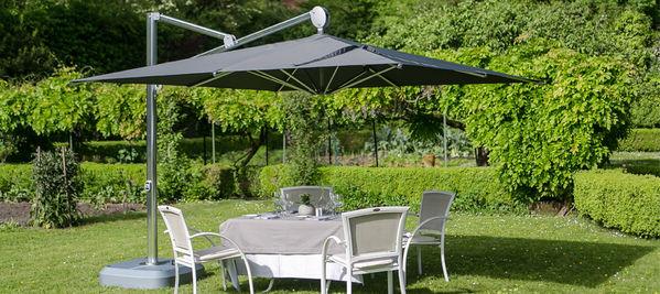 Parasol Sunflower Le parasol carré déporté luxueux et robuste