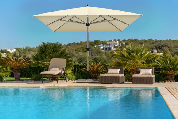 Parasol Sunwheel Le parasol droit géant parfait pour votre jardin