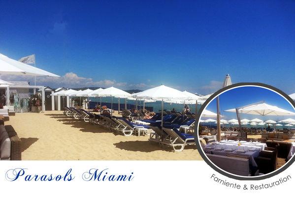 Parasol Miami Le parasol rond idéal pour les petits espaces
