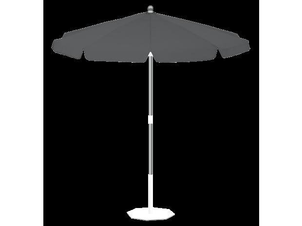 Parasol Miami Parasol Inclinable Rond O 200 Polyester Ardoise La Maison Du Parasol